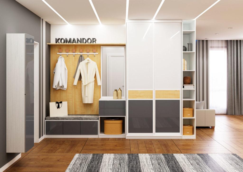 Встроенный шкаф-купе Komandor в прихожей